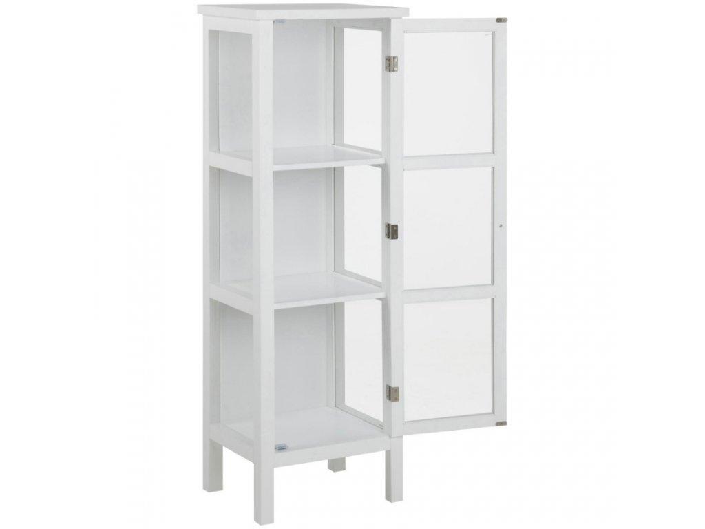 Bílá dřevěná vitrína Marion 45,5 cm