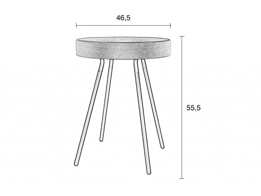 Odkládací stolek ZUIVER OAK TRAY odnímatelná deska
