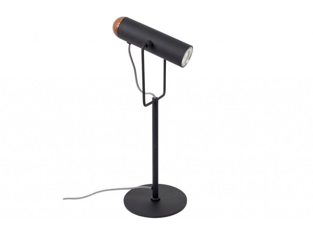 Černá kovová stolní lampa ZUIVER MARLON