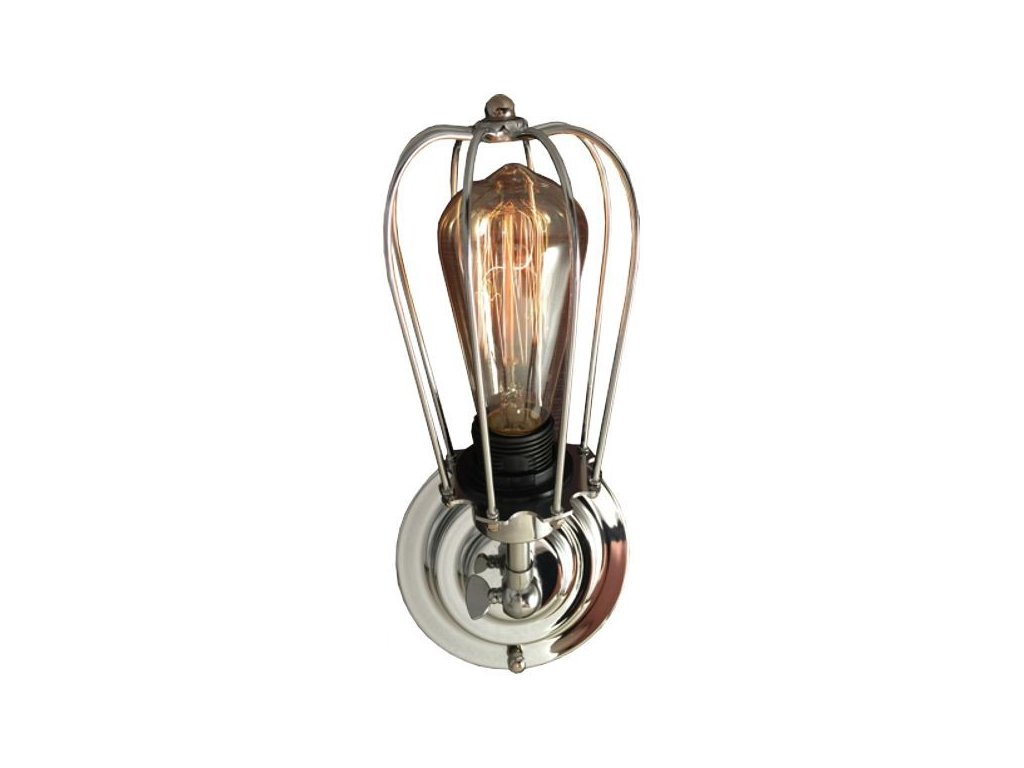 Designové chromové kovové nástěnné světlo Bray
