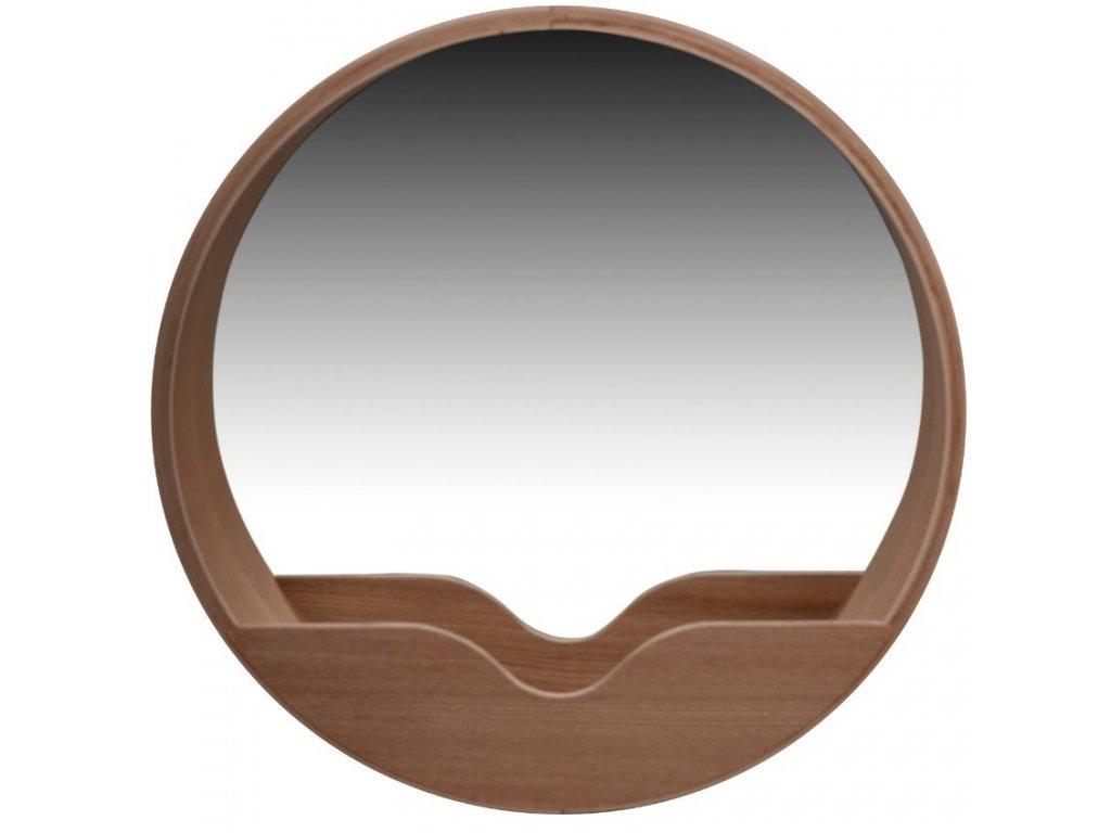 Dřevěné závěsné zrcadlo ZUIVER ROUND WALL 40 cm