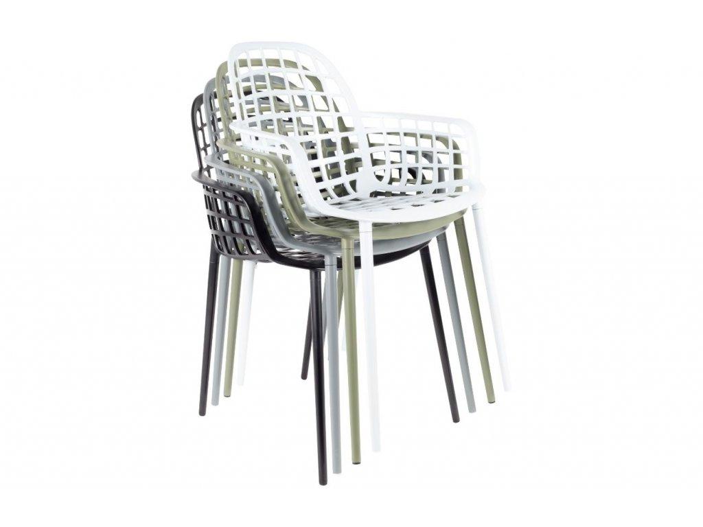 Černá stohovatelná kovová židle ZUIVER ALBERT KUIP GARDEN