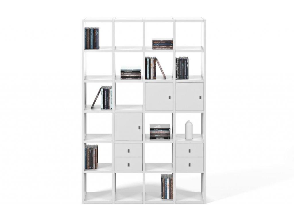 Designová knihovna Manoel I., matná bílá