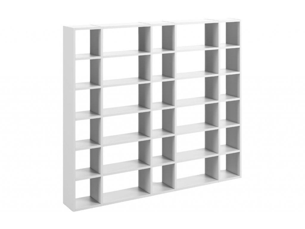 Designová knihovna Manoel IV., matná bílá