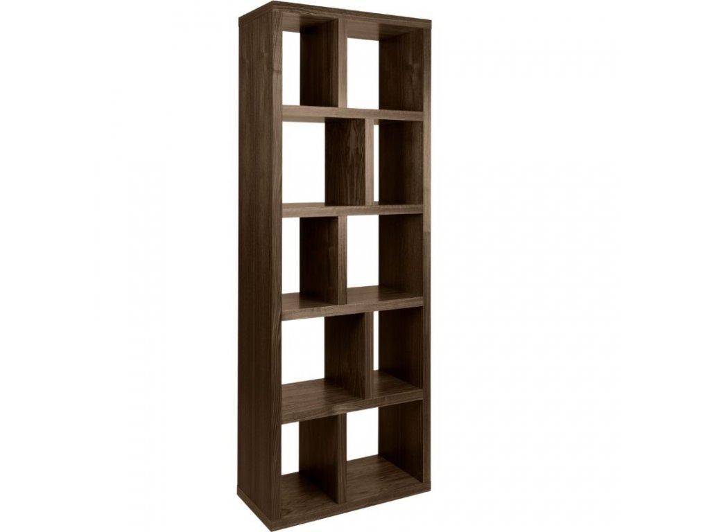 Designová knihovna Castelo 5 70 cm, ořech