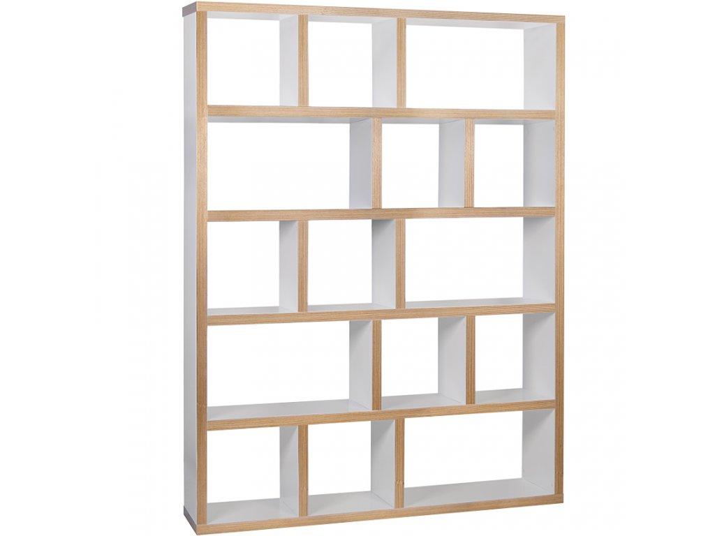 Bílá dřevěná knihovna Castelo 5 150 x 34 cm