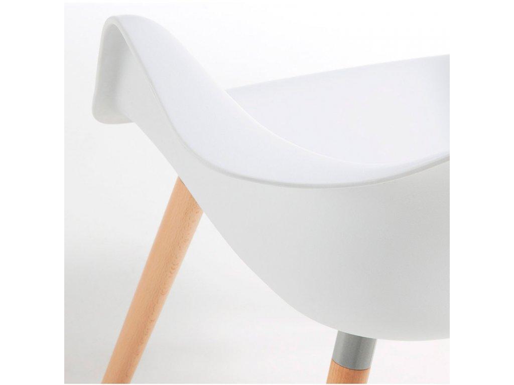 Bílá plastová židle LaForma Kenna