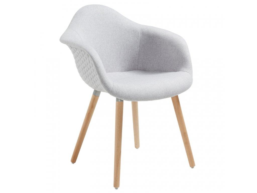 Světle šedá čalouněná židle LaForma Kenna