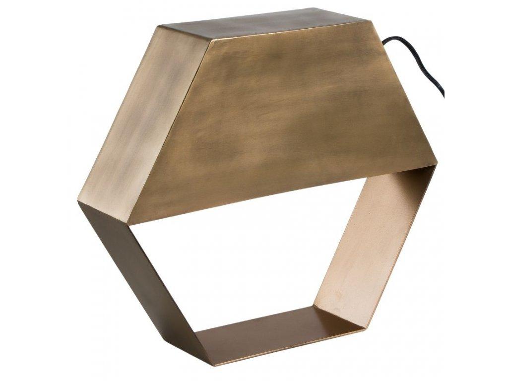 Mosazná kovová stolní lampa LaForma Bern