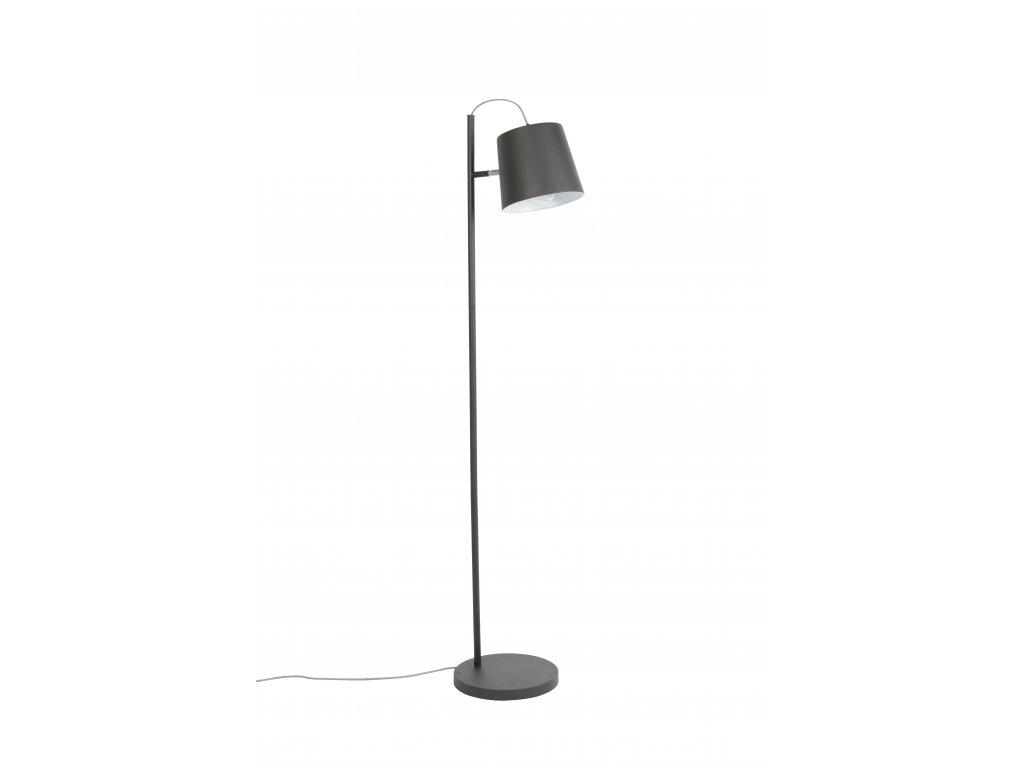 Černá stojací lampa ZUIVER BUCKLE