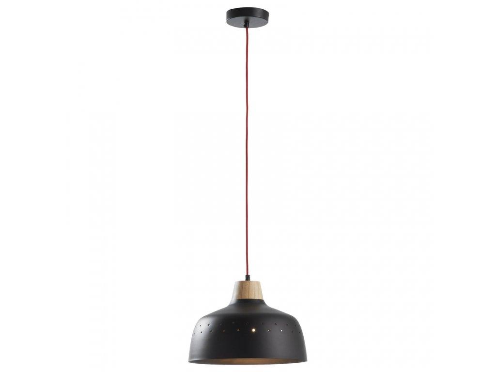 Černé závěsné kovové světlo LaForma Blog