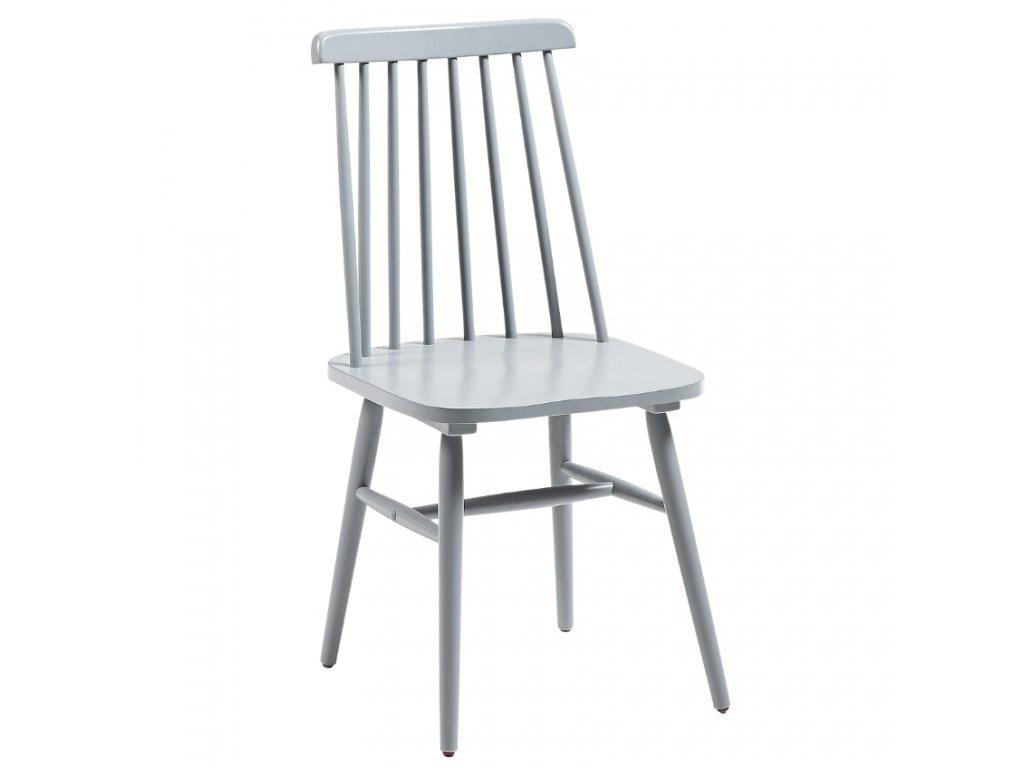 Světle šedá dřevěná jídelní židle LaFormaKristie