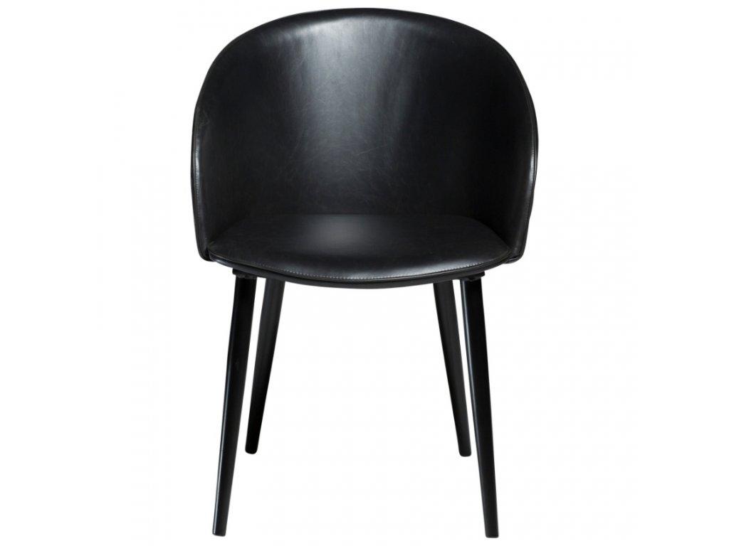 Černá koženková vintage židle DanForm Dual