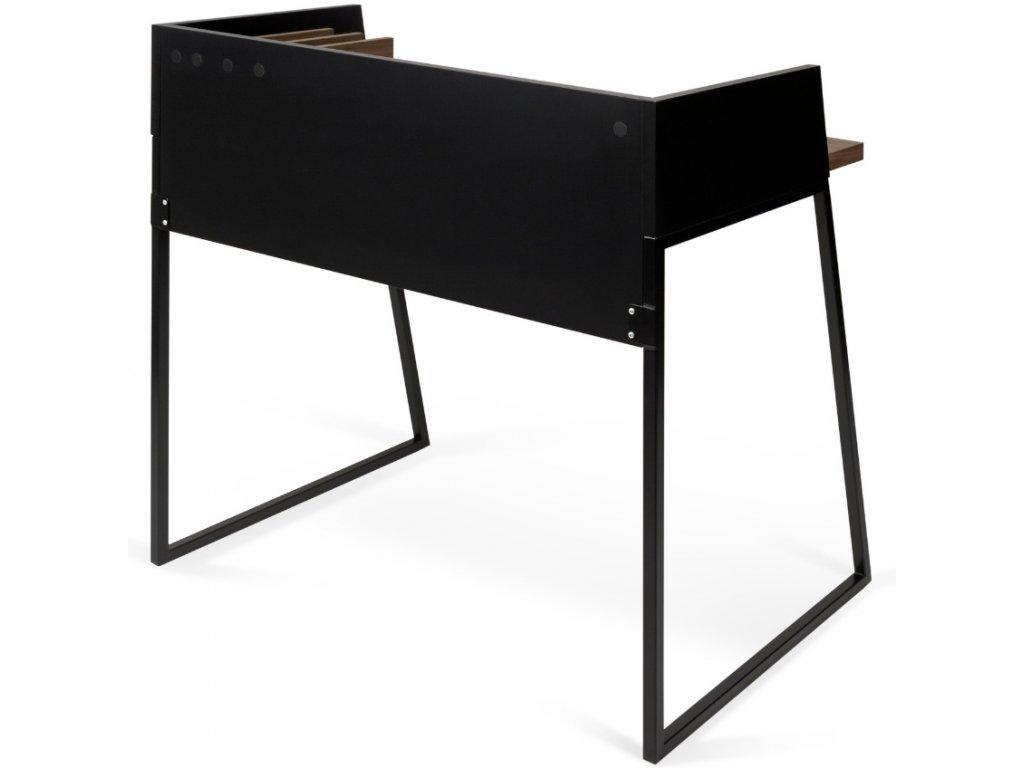 Černý ořechový kancelářský stůl Glaucia 90x60 cm