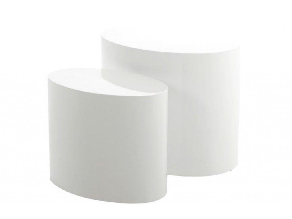 Set konferenčních stolků Alida, bílá