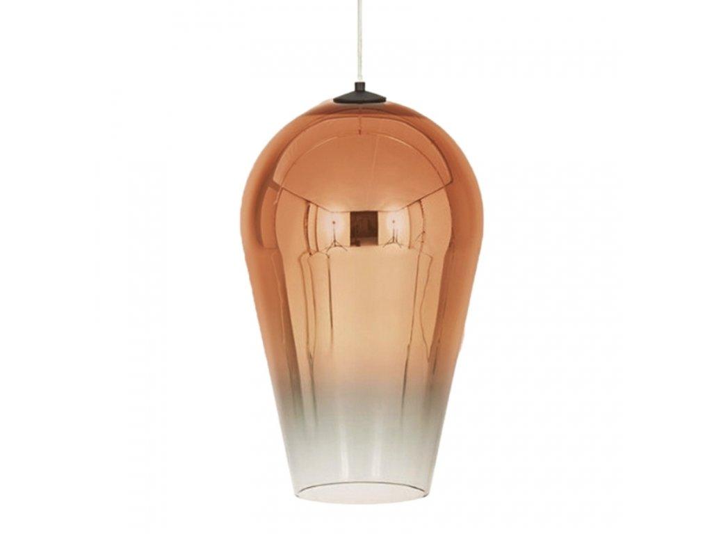 Měděné závěsné světlo Callo 30 cm
