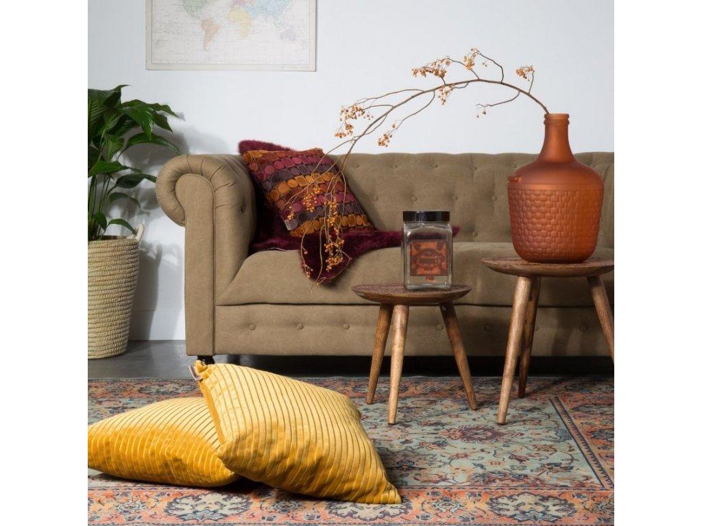 Zlatý polštář DUTCHBONE DUBAI, retro a vintage styl