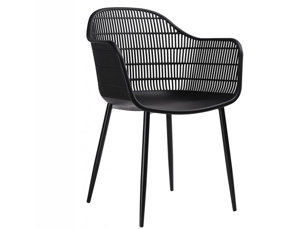 Designové plastové křeslo Munes, černé