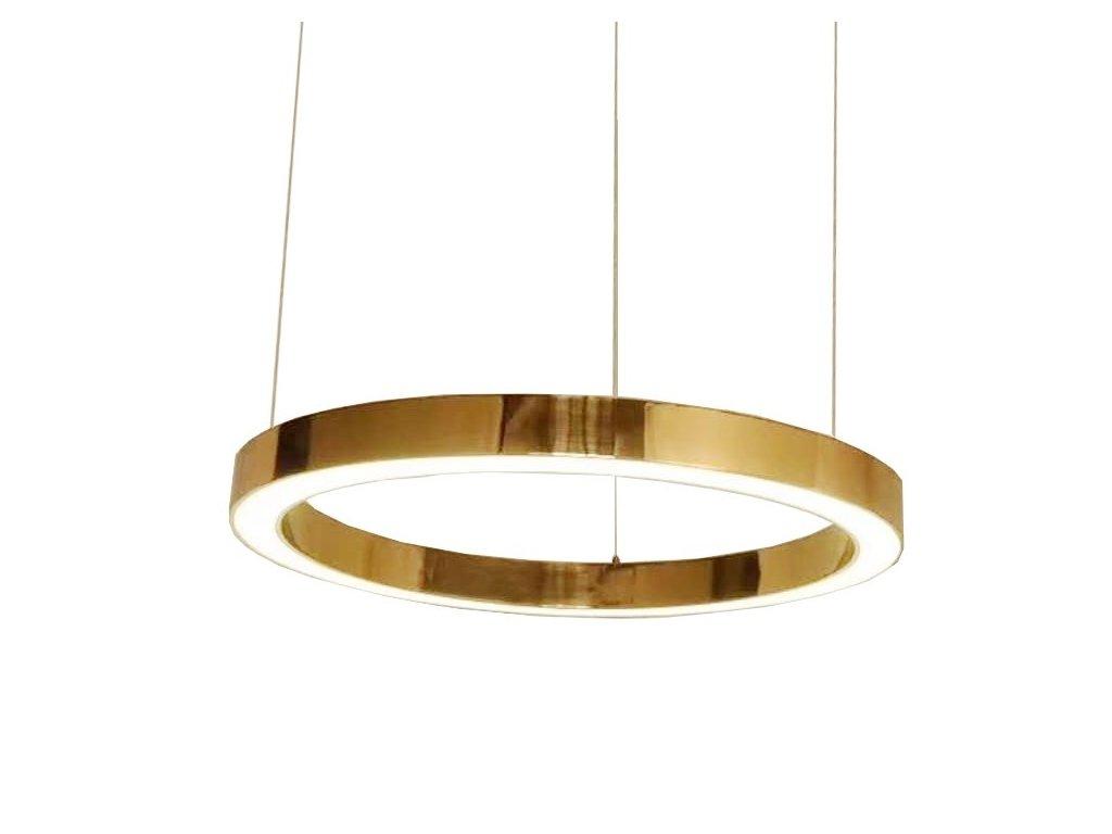 Designové mosazné závěsné světlo Edeon 80 cm