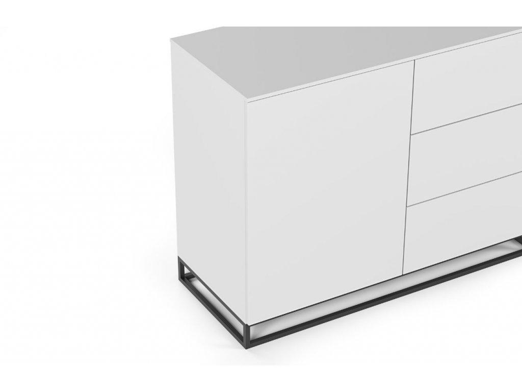 Bílá dřevěná komoda Lettia II 120 x 50 cm