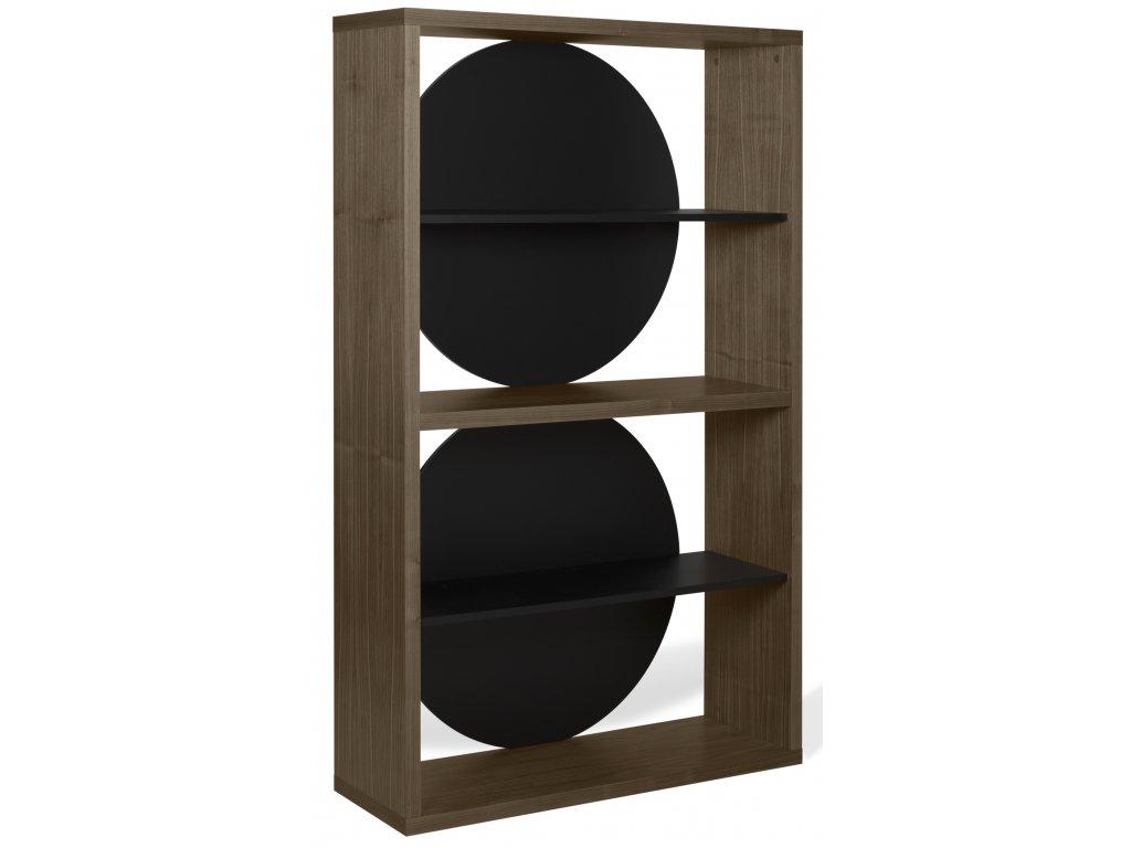 Černý ořechový regál Nino 115 x 37 cm