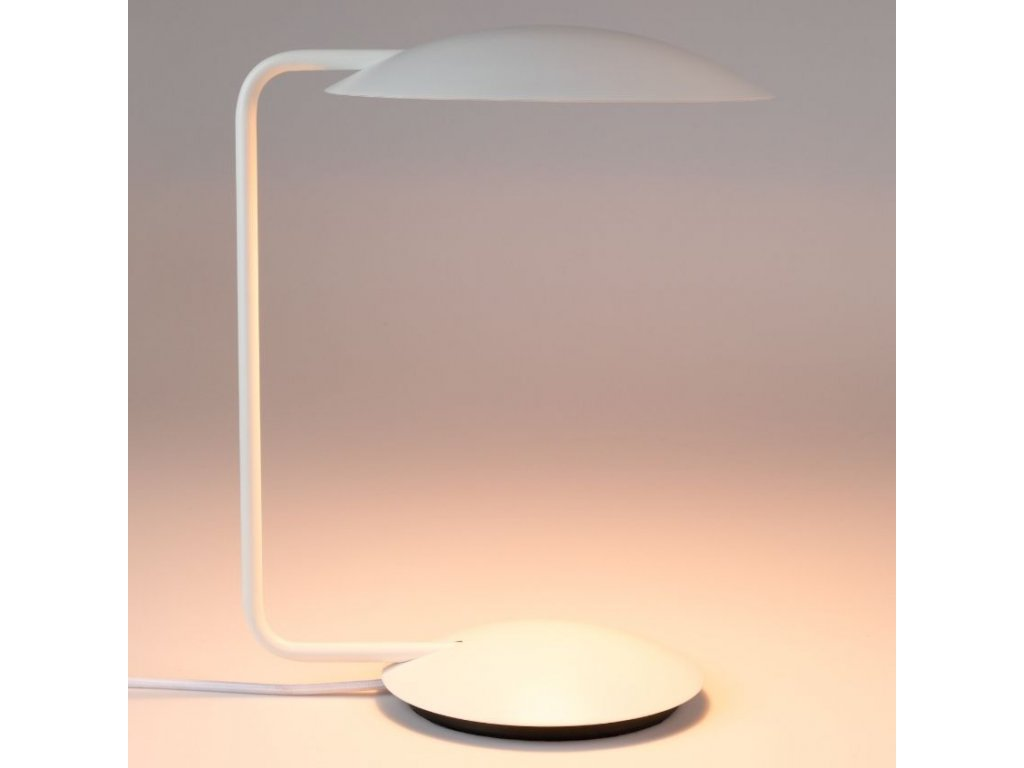 Bílá kovová stolní lampa ZUIVER PIXIE