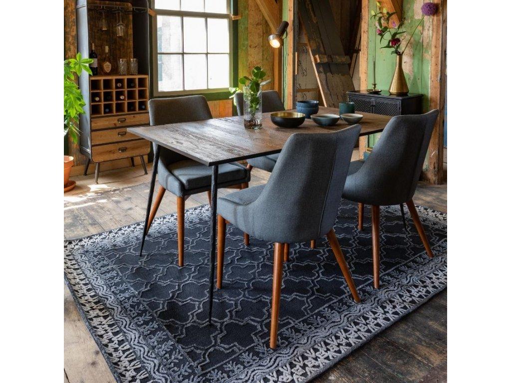 Přírodní jídelní stůl DUTCHBONE PEPPER 160x90 cm borovicová dýha