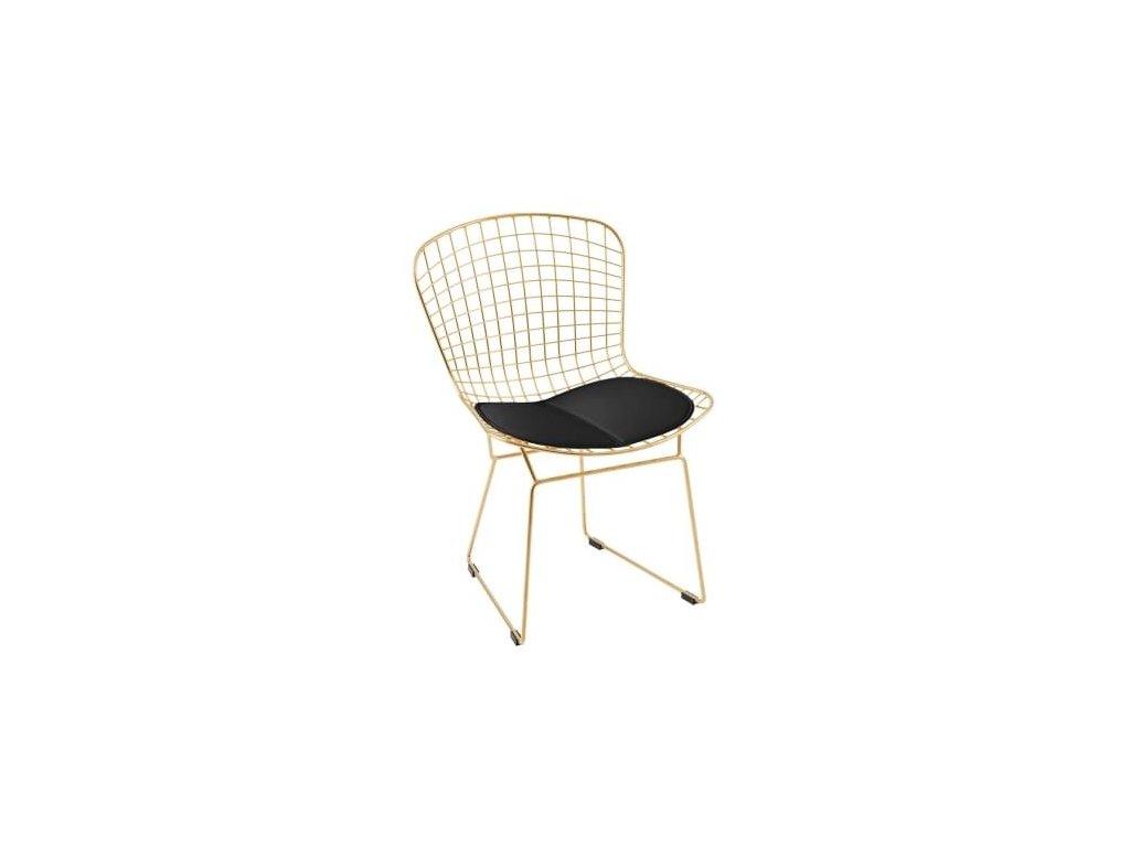 Židle Harry, zlatá/černá