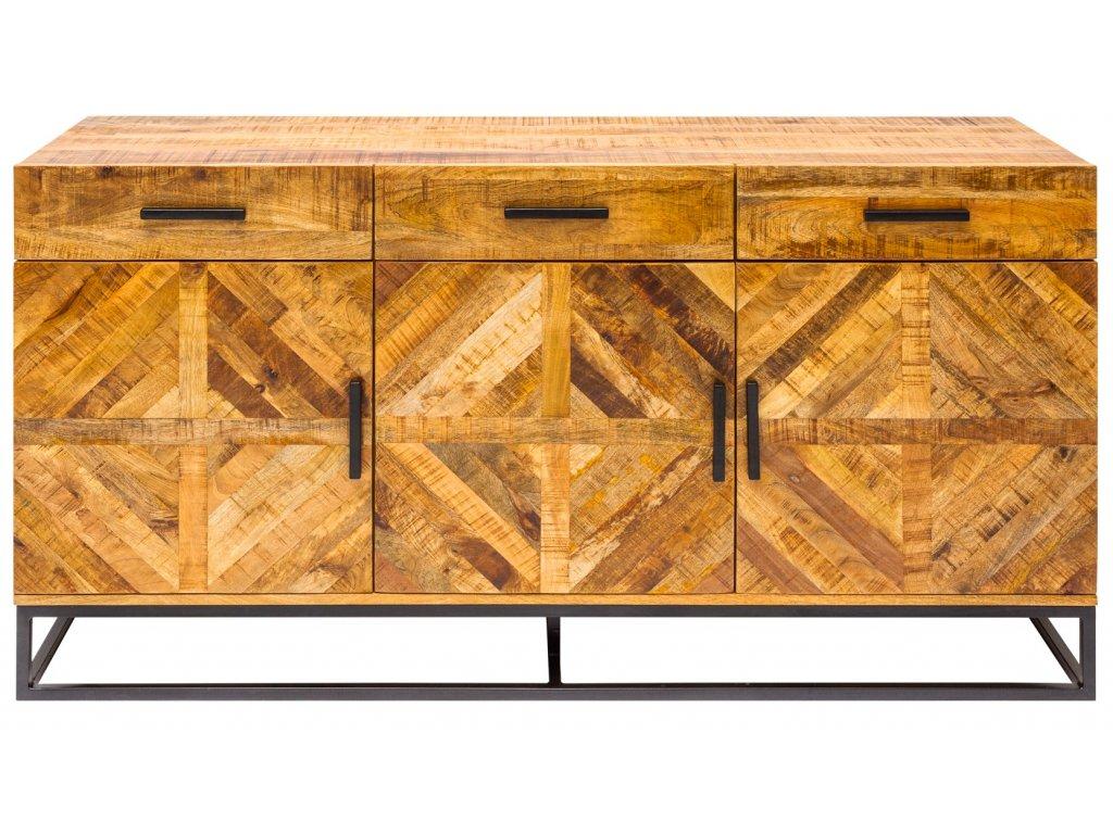 Dřevěná masivní komoda Wotan