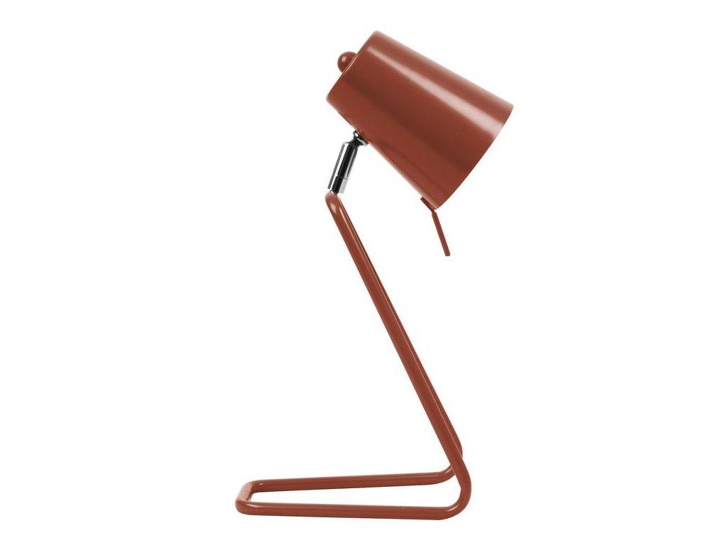 Červená kovová stolní lampa Treu