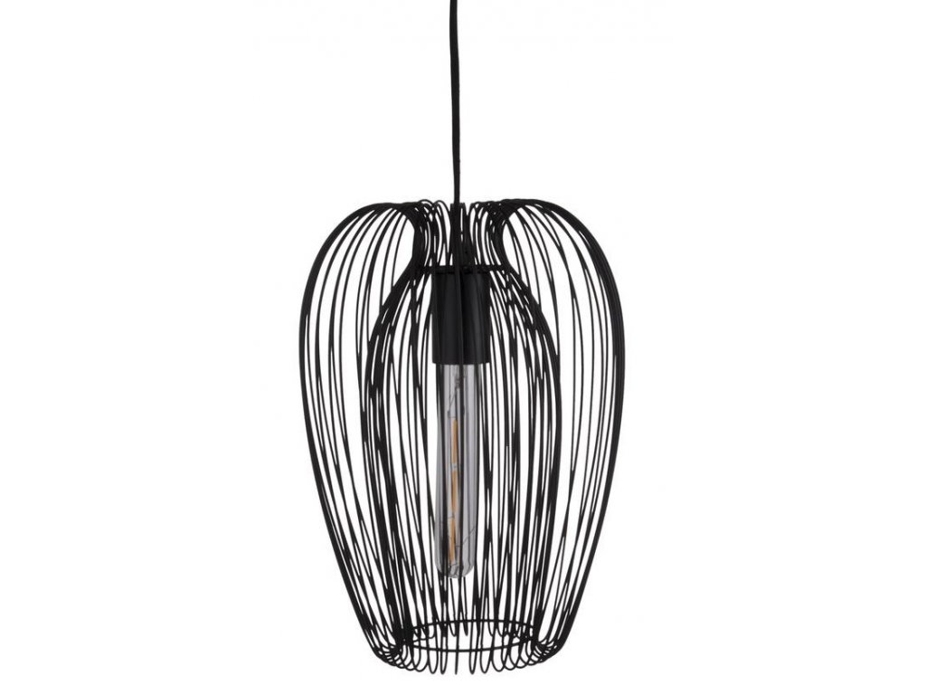 Černé závěsné kovové světlo Divine 33 cm