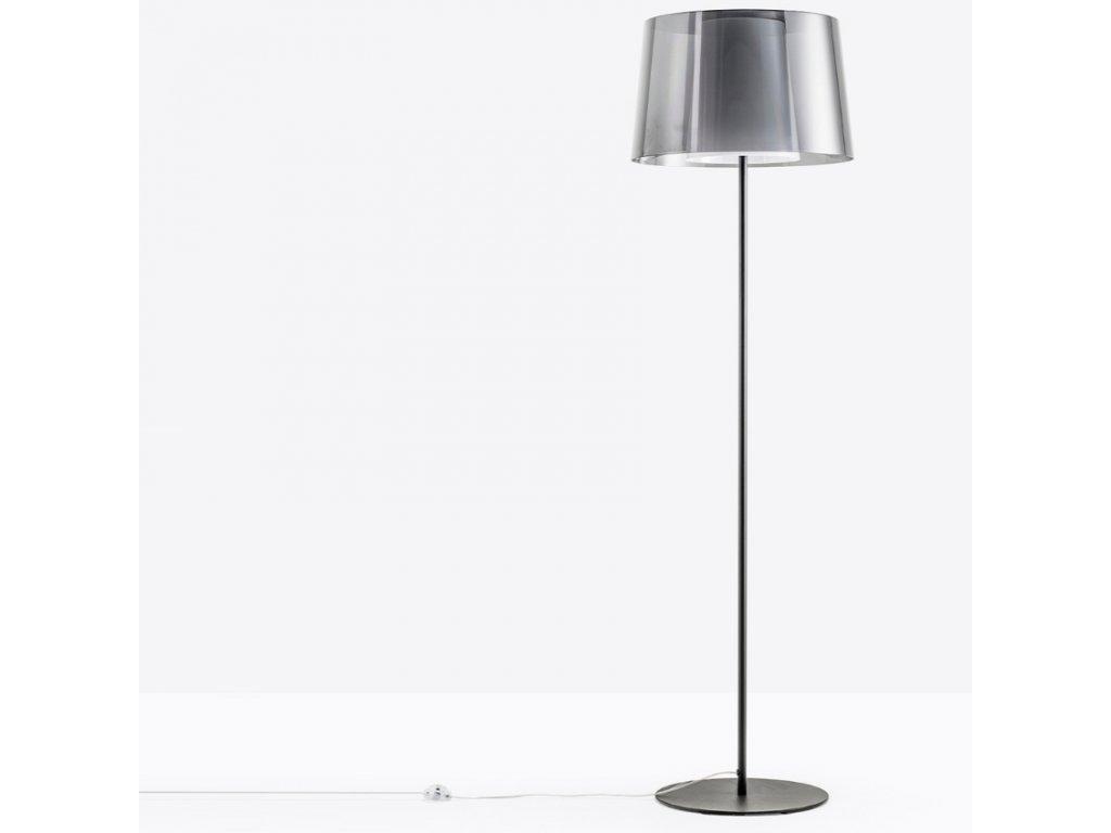 Černá kovová stojací lampa Pedrali L001ST/BA 180 cm