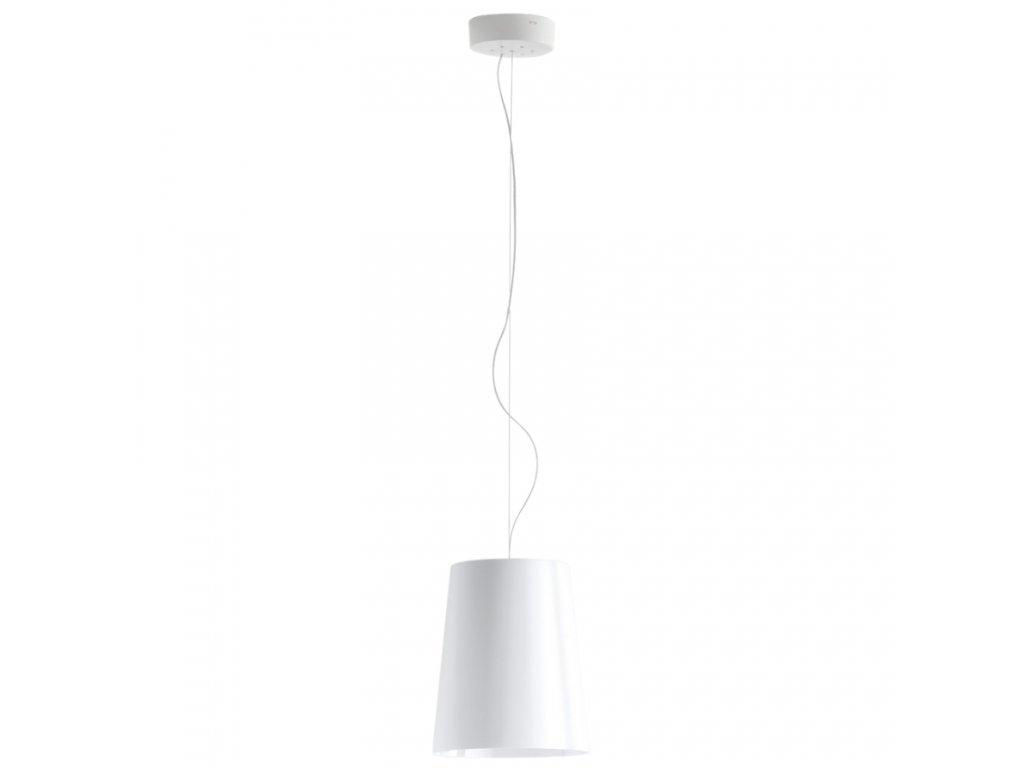 Bílé závěsné světlo Pedrali L001S/A