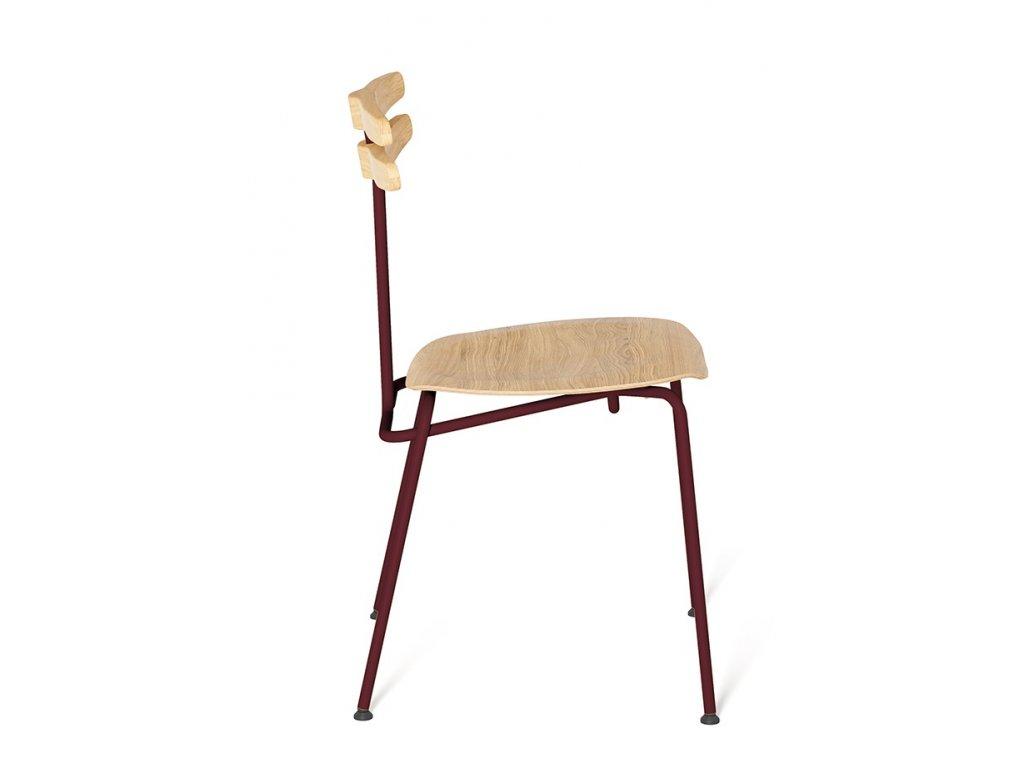 Židle Tabanda Trojka I., bordová