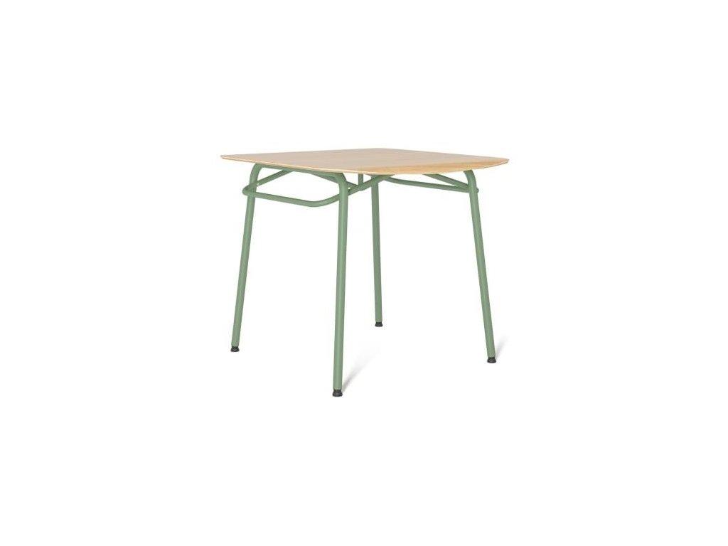 Jídelní stůl Tabanda Troj 80x80 cm, mint
