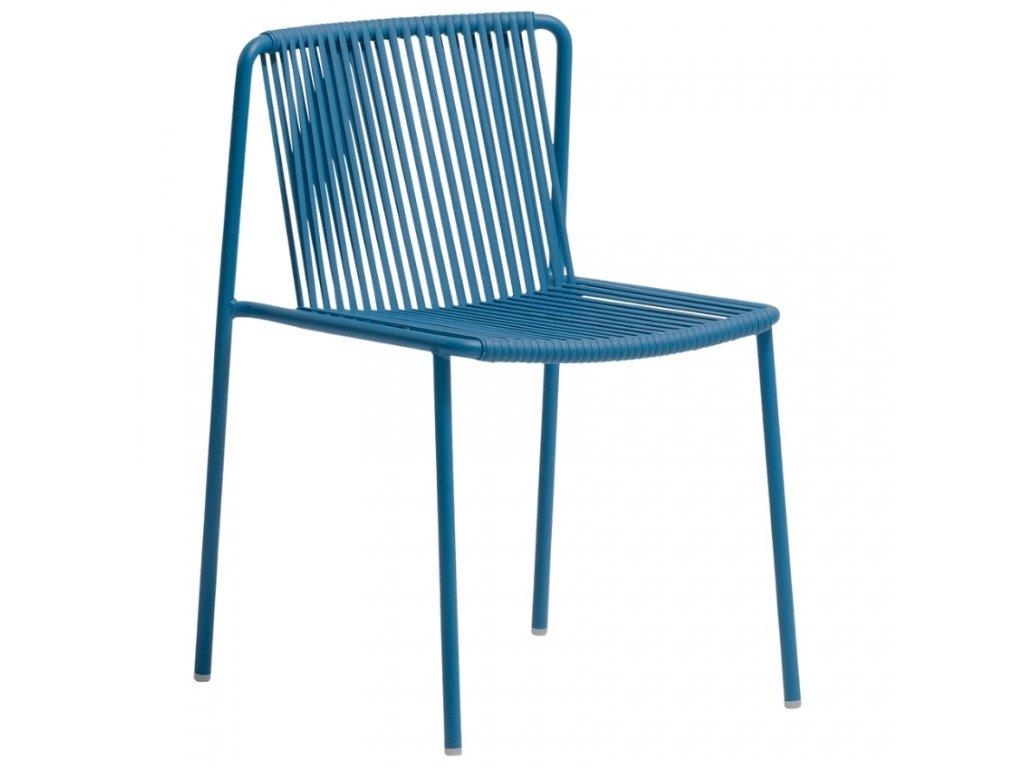 Modrá kovová zahradní židle Tribeca 3660