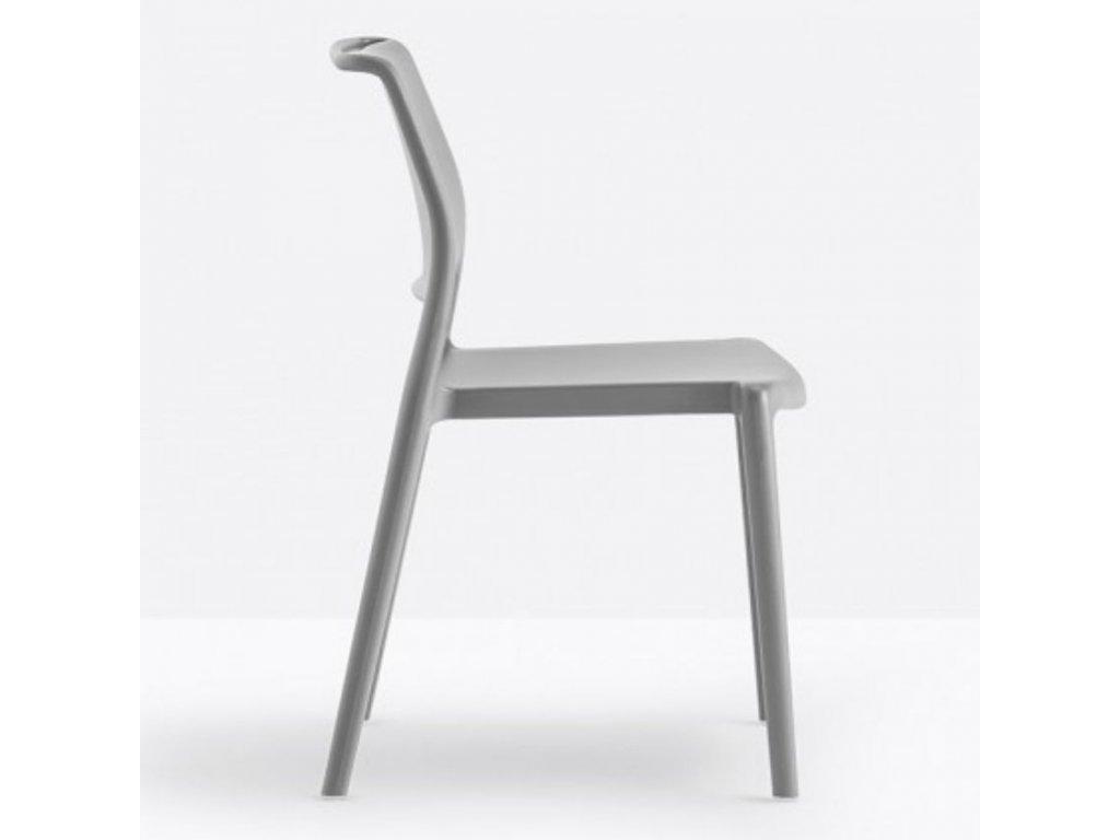 Šedá plastová židle Ara 310