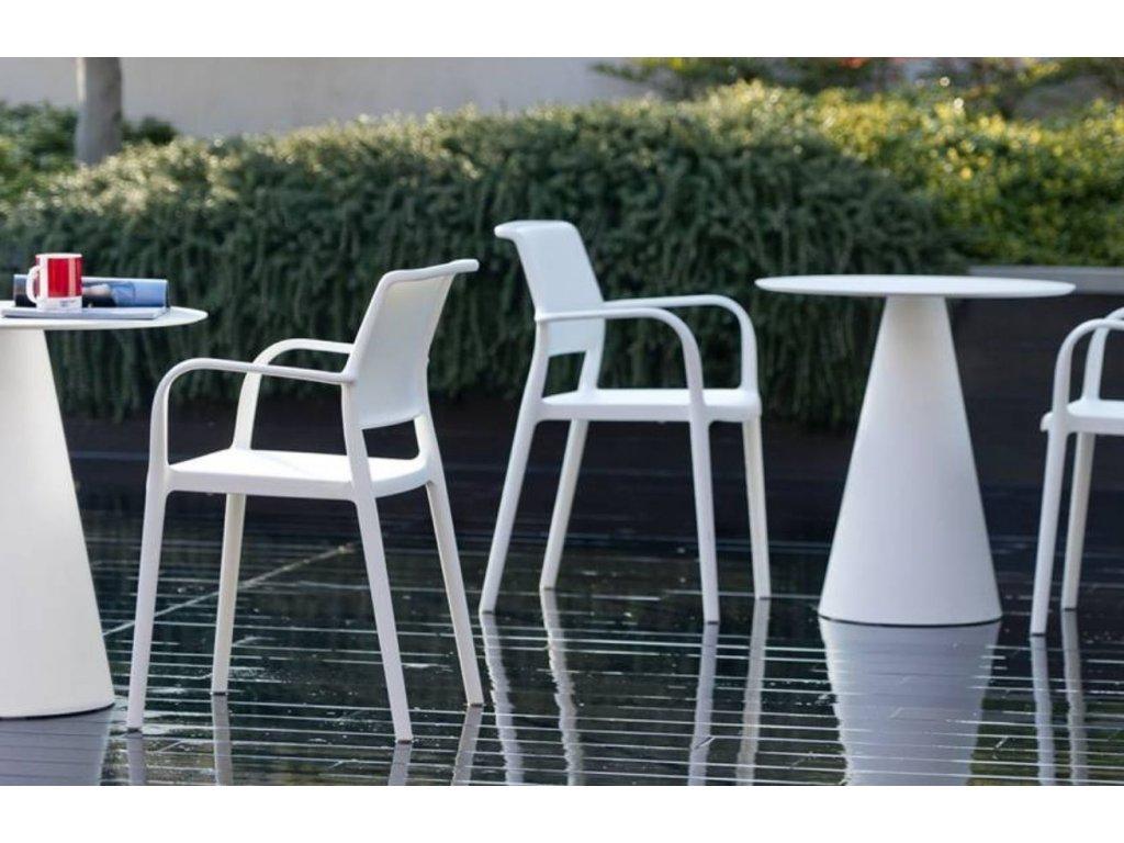 Modrá plastová židle Ara 310