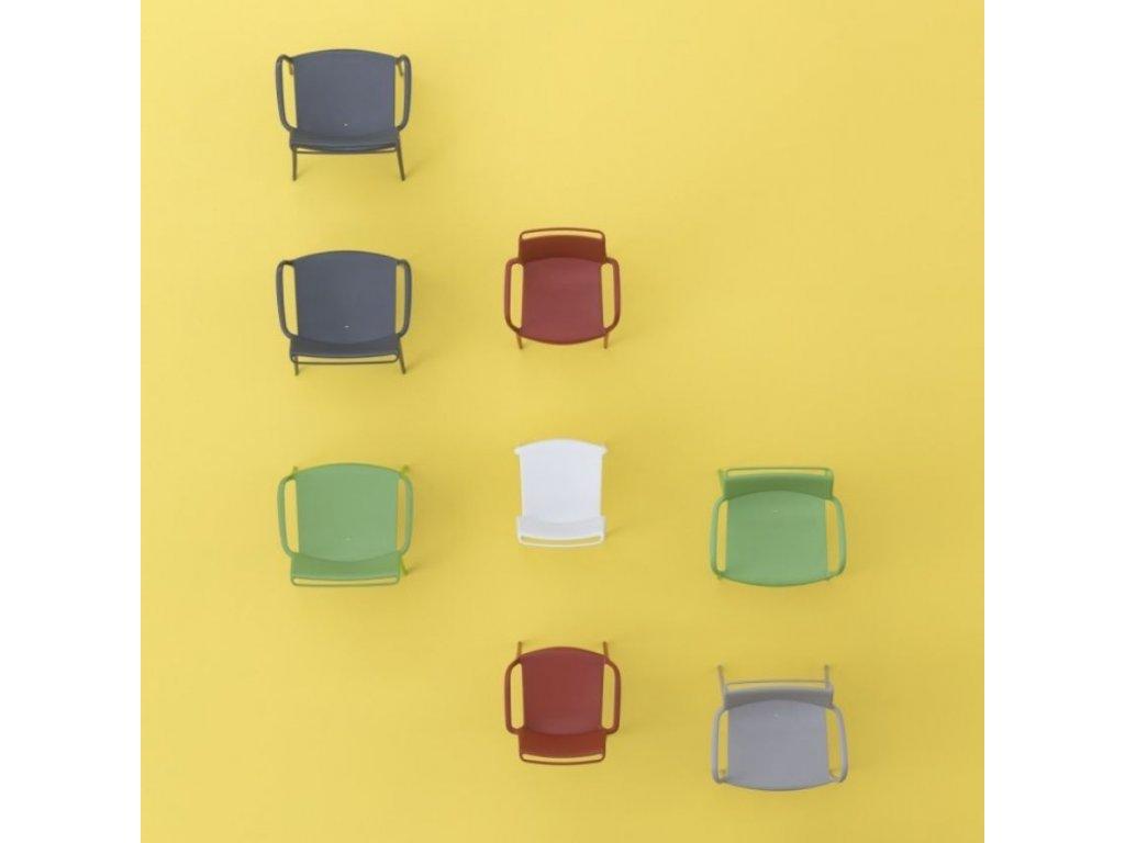 Tmavě šedá plastová židle Ara 310