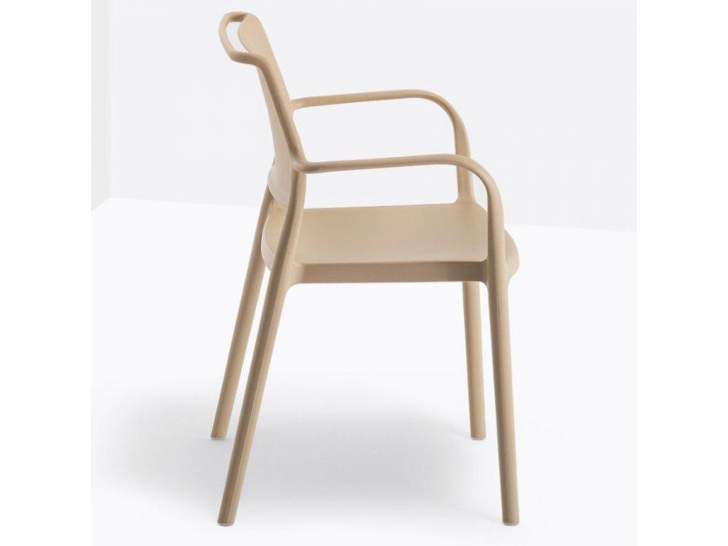 Béžová plastová židle Ara 315