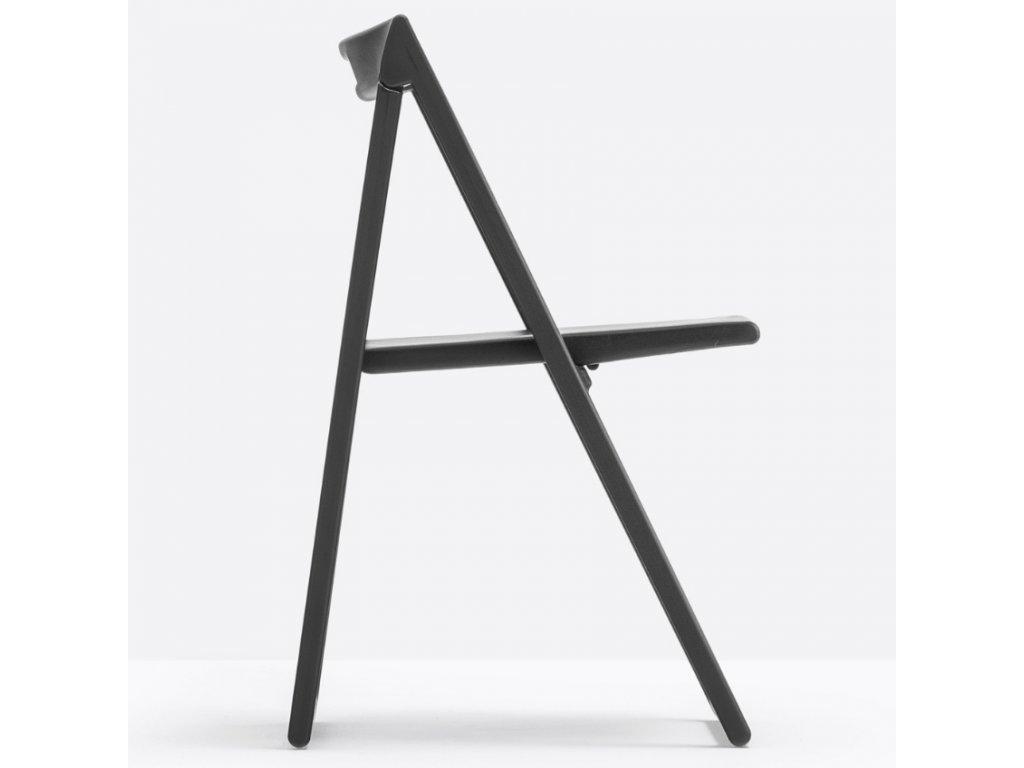 Černá plastová skládací židle Enjoy 460