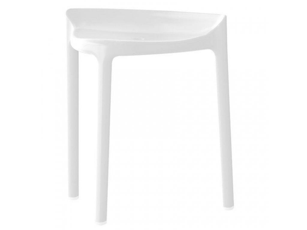 Bílá plastová židlička Happy 491 50 cm