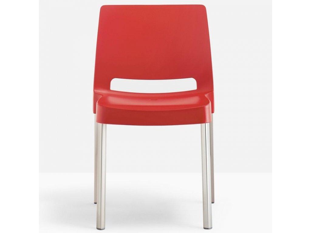 Červená plastová židle Joi 870