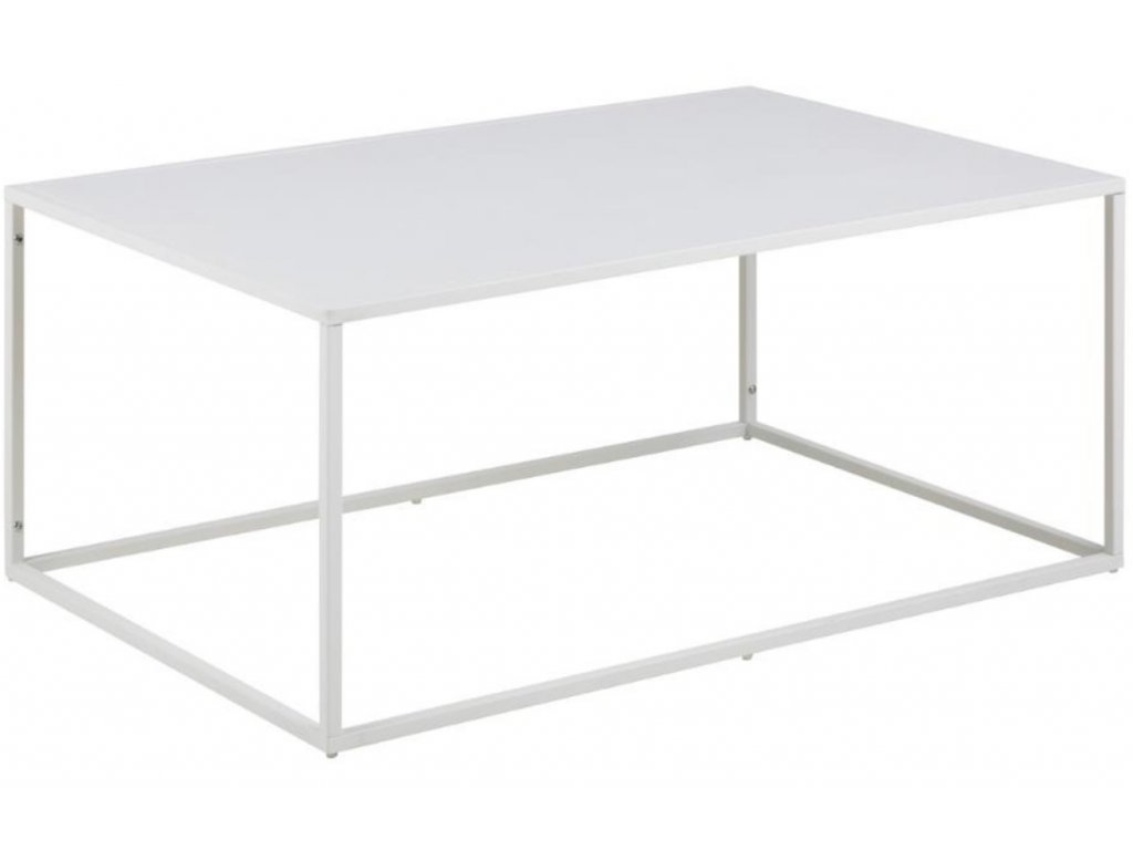 Bílý kovový konferenční stolek Renna, lakovaný kov