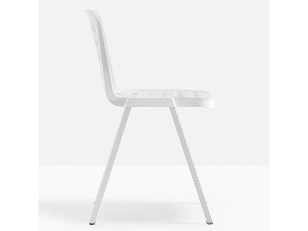Bílá plastová židle Koi-Booki 370