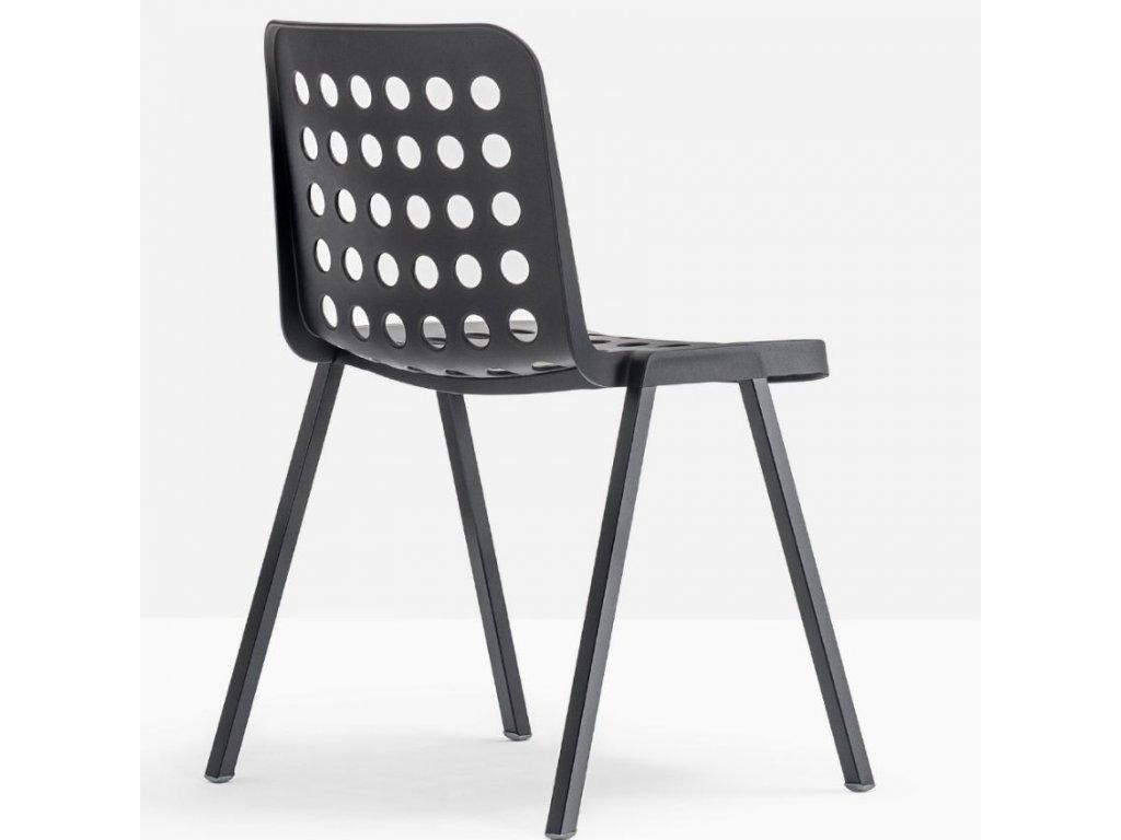 Černá plastová židle Koi-Booki 370