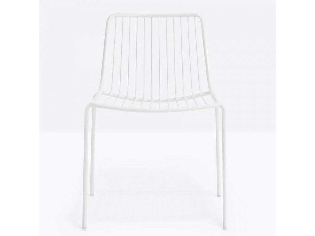 Bílá kovová židle Nolita 3650