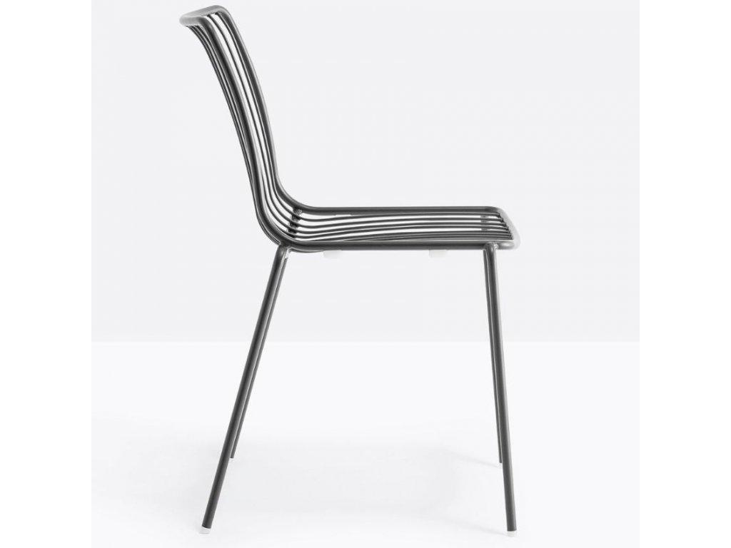 Černá kovová židle Nolita 3651