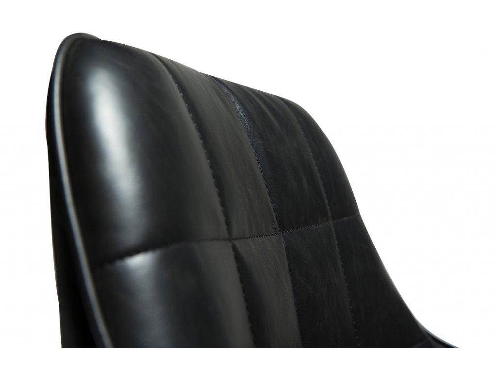 Černá koženková vintage židle DanForm Embrace