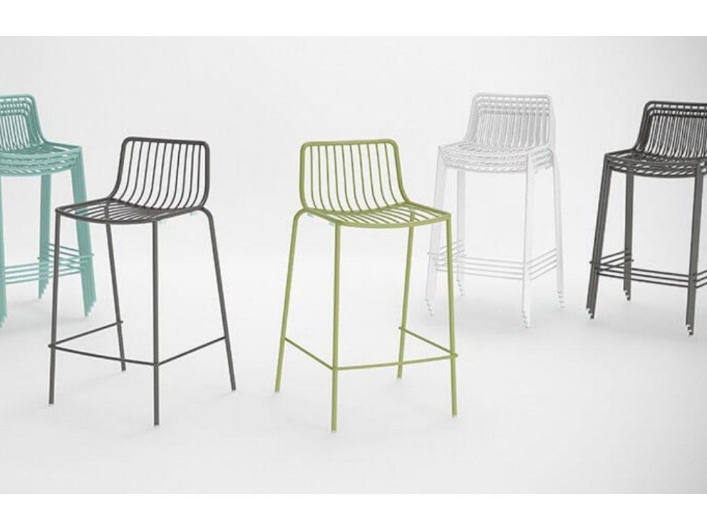 Černá kovová barová židle Nolita 3657